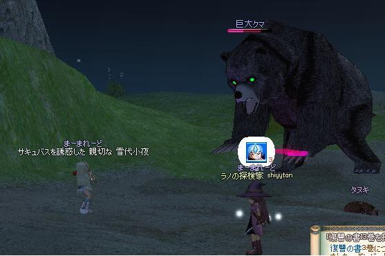 雪さんクマと戦う