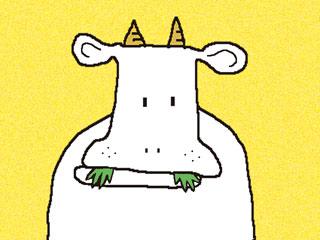 アニメ牛03の絵
