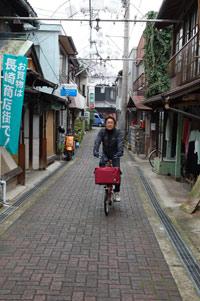 土生の街をサイクリング