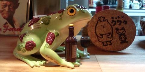 葡萄種な蛙