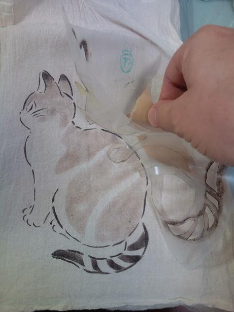 猫手染めぱちくり 013