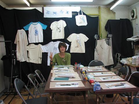 夏猫Tシャツ教室 003