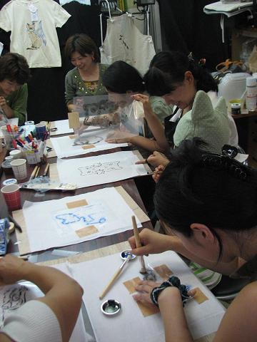 夏猫Tシャツ教室 011