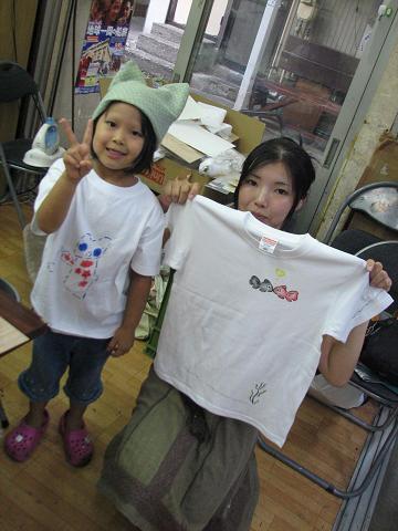 夏猫Tシャツ教室 046