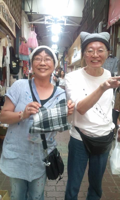 にゃんかのさんと猫耳ツーショット