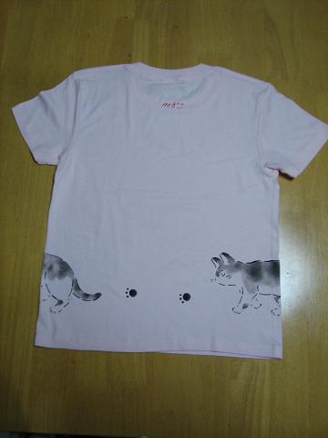 めぐりめぐTシャツ 後ろピンク