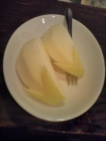 ネザーランドドワーフうさぎ切りのりんご