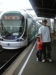 電車で行ってきます