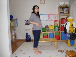 妊娠26週の体形