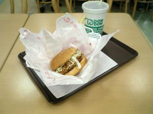 ドムドムハンバーガーで甘辛チキンバーガーセット002