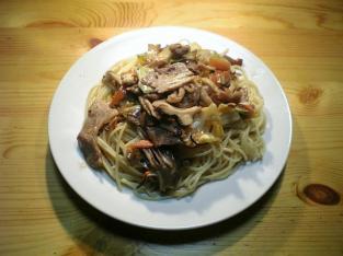 きのこ野菜スパゲッティ001