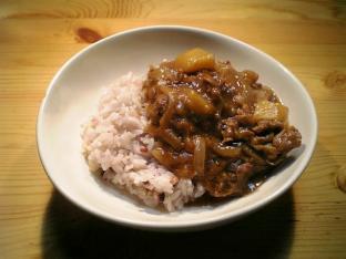 五穀米とキウイカレー001