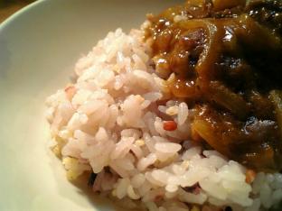 五穀米とキウイカレー003