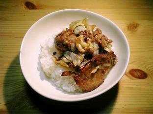 豚ロース生姜焼き丼001