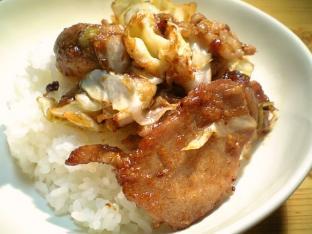 豚ロース生姜焼き丼002