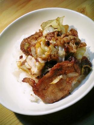 豚ロース生姜焼き丼003