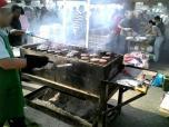 米海軍厚木航空施設)日米親善桜祭り2-4JUMBOセットメニューのホットドック018