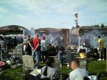 米海軍厚木航空施設)日米親善桜祭り2-4JUMBOセットメニューのハンバーガー011