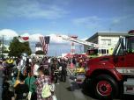 米海軍厚木航空施設)日米親善桜祭り2-4JUMBOセットメニューのハンバーガー014