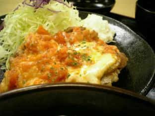松乃家トマトチーズチキン定食003