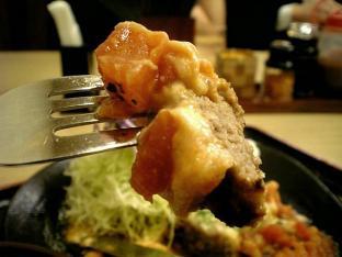 松乃家とまとチーズハンバーグ定食003