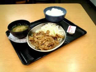 吉野家生姜焼定食002