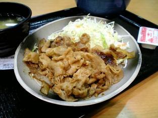 吉野家生姜焼定食003