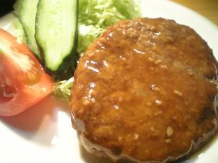 マルシンニンニク醤油ダレハンバーグで定食風003