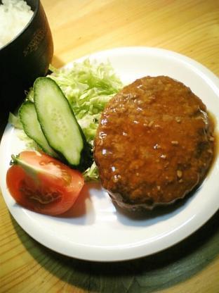 マルシンニンニク醤油ダレハンバーグで定食風004
