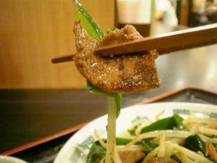 日高屋ニラレバ炒め定食004