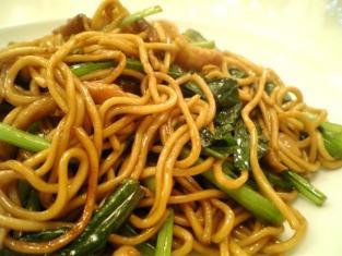 上海美食、上海風醤油焼きそば005
