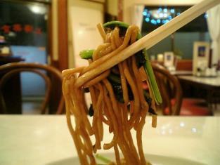 上海美食、上海風醤油焼きそば006