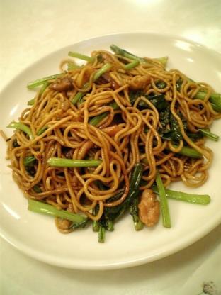 上海美食、上海風醤油焼きそば007