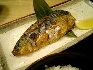 松乃家、鯖塩焼き定食002