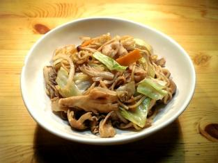 肉野菜もやしきのこソース焼きそば001