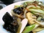 中華料理鶴廣でネギ肉イタメとライス007