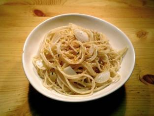 吉野家牛丼ふりかけでスパゲッティ002