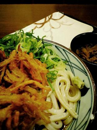 釜揚げうどん 丸亀製麺でぶっかけうどん(大)002