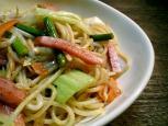 スパイシーソーセージ&野菜中華スパゲッティ003