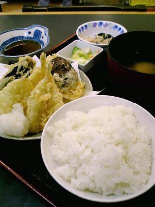 和食いちばんでキス野菜天定食2