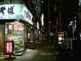 伊勢佐木モールの名代富士そばで唐揚げ定食小300円1