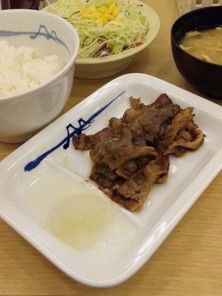 松屋、焼肉フェア第2弾、カルビ焼肉定食540円2
