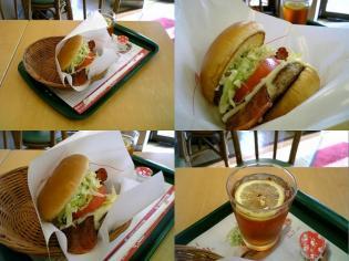 モスバーガー(季)とびきりハンバーグサンドB.L.T (スライスチーズ入り)3