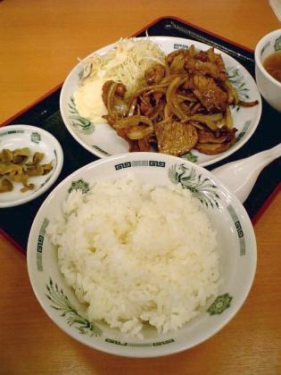 日高屋大和、生姜焼き定食2