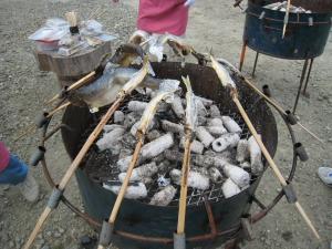 ホゲット祭りアユ塩焼き