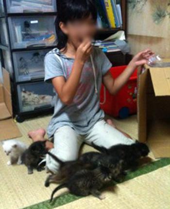 姪っ子と子猫0921