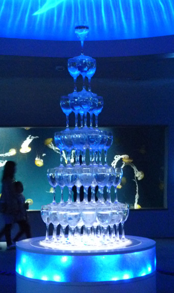 クラゲのグラスツリー