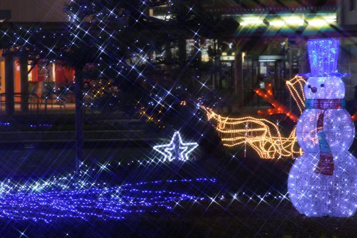 藤枝駅イルミ20101208-01