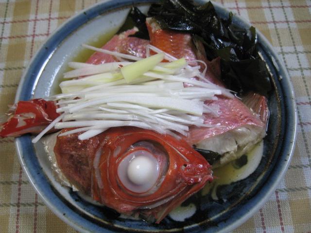 自作金目鯛蒸し煮20110419-01