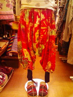 tiedye 2way pants 着用
